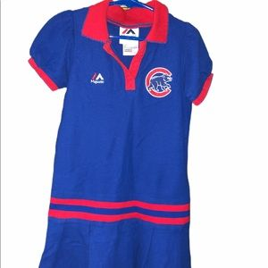 🔥4/$20 Chicago Cubs majestic girls 6X dress